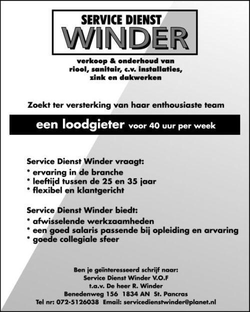 Winder Loodgietersbedrijf Servicedienst - Foto's