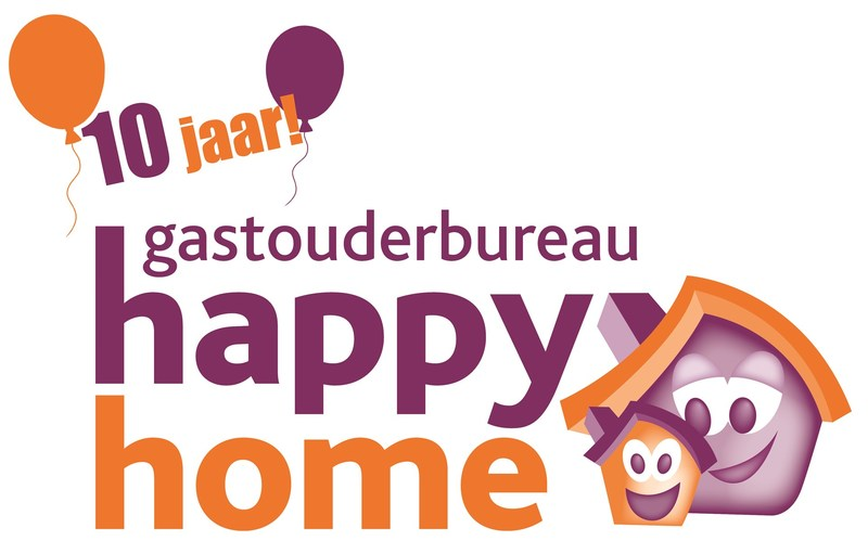 Logo happy home 10 jaar 1